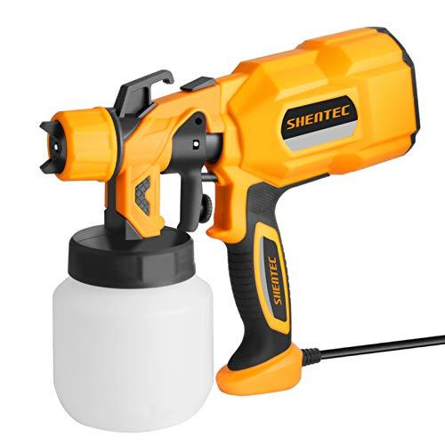 Shentec Pistola de Pintura 650W 800ML pistola de pulverización pintura eléctrica, 3...