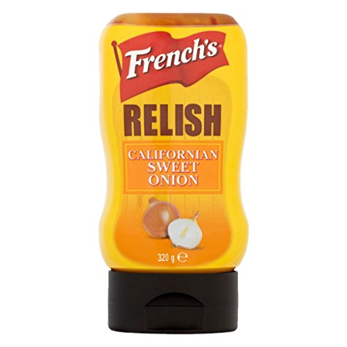 French's Sweet Onion Relish (1 Flasche) 320g - ideal zu Burger, Hot Dogs und Sandwiches