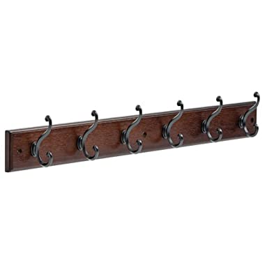 LIBERTY 165541 Six Scroll Hook Rack Cocoa and Soft Iron, 27-Inch