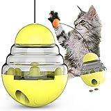 PETTOM Futterball für Hunde und Katzen Interaktiv Katzenspielzeug Tumbler Haustierfutter für Langsam Fütterung Training Nahrungsuche