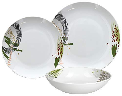 Tognana ME070185587 Indie - Vajilla de 18 piezas (porcelana)