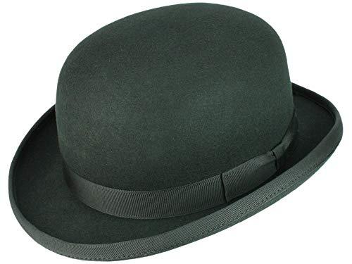 Christys' Christys' Fashion Bowler Melone aus Wollfilz - Schwarz (Black) - 60-61 cm (XL)