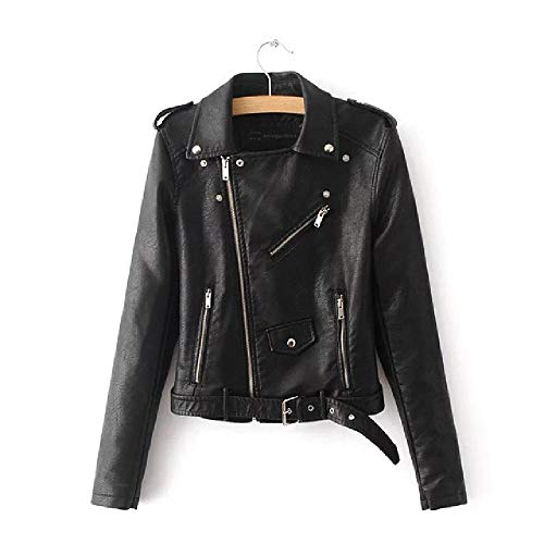 nobrand Herbst Kurze Kunstlederjacke Frauen Basic Jacke Mode Reißverschluss Weiches Motorrad PU Lederjacke Ladies Street Coat
