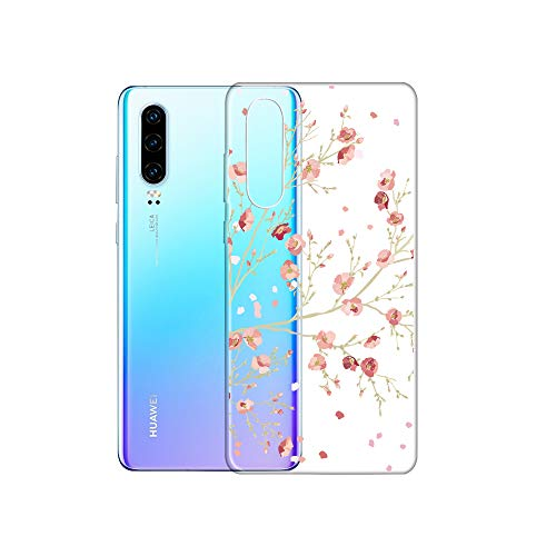 Bubunix Hua Wei P30 silicone hoes patroon transparant zachte siliconen beschermhoes mobiele heuptas beschermhoes hoes case cover case TPU bumper shell voor Huawei P30, Patroon 1