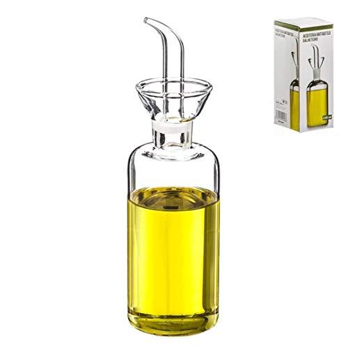 Dcasa - Aceitera de cristal antigoteo 250 ml en caja