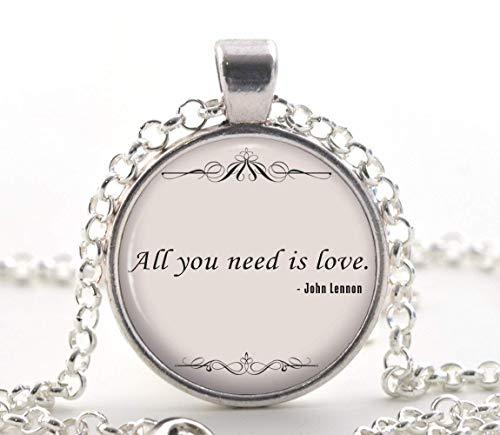 John Lennon Halskette mit Zitat The Beatles Musiklieder, romantisches Geschenk für Sie