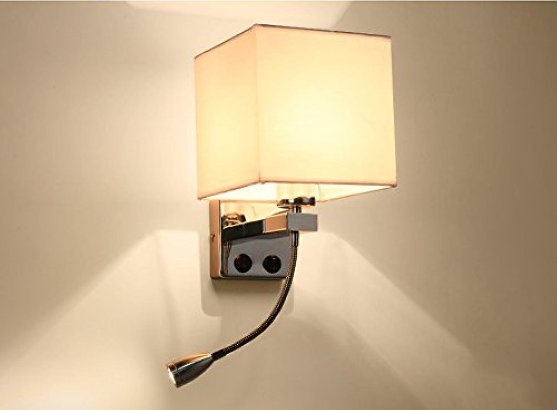 JFFFFWI Heimwerker Wohnzimmer Continental Moderne Eisen Led-Beleuchtung Mit Schlafzimmer Restaurant Taste Stoff Nachttischlampe (Farbe    3)