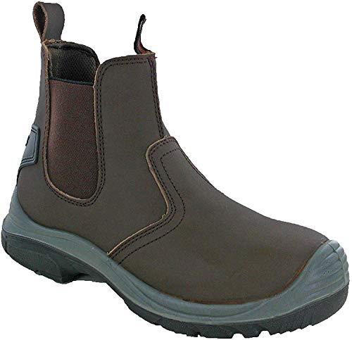 Grafters Safety Dealer S1 caviglia lavoro acciaio Toe Mens stivali UK 6-13, Marrone (Marrone), 44 EU