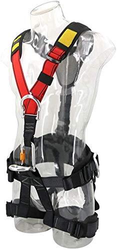 Harnais d'escalade, Full Body Hommes Femmes Sports de Plein air à la rescousse pour l'alpinisme Escalade Travail sur Air Lifelines Descente Assurance Ceinture de sécurité Confort supérieure