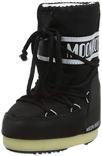 Moon-boot Nylon, Stivali Invernali Unisex-Bambini, Nero (Nero 001), 23/26 EU