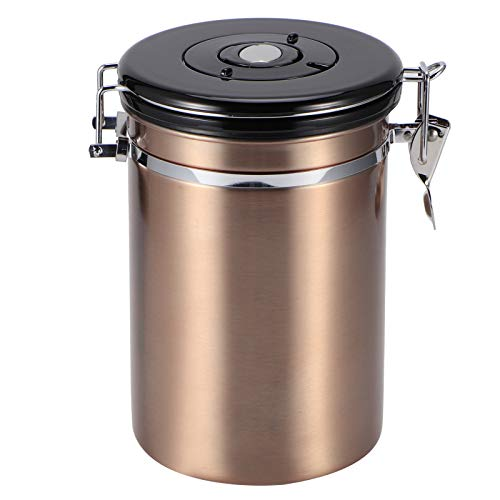 Sealed Pot, Sealed Food Container, Stainless Steel with Air(Golden, 1.8L【Approximately 750g】)