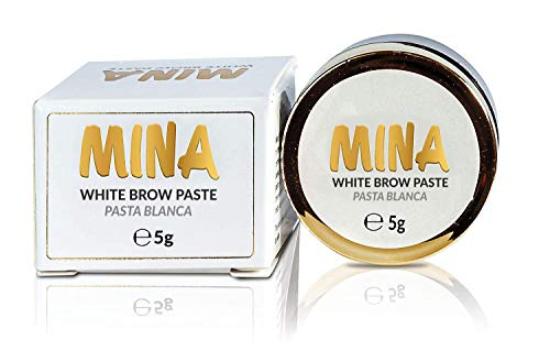 MINA White Brow Paste 5g | Draw Or Sketch The Right Shape Of The Eyebrow | Help To Perfect Your Brow Tinting