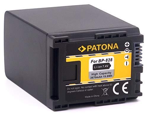 PATONA Ersatz für Akku Canon BP-828 BP-827 (echte 2670mAh) - Infochip -