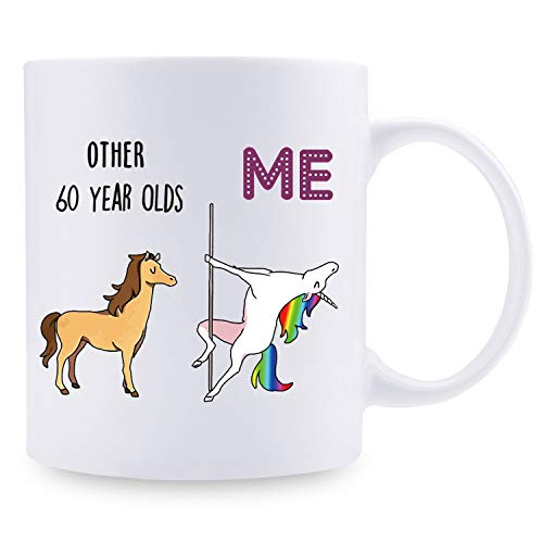 Image of the 60th Birthday Gifts for Women - 1959 Birthday Gifts for Women, 60 Years Old Birthday Gifts Coffee Mug for Mom, Wife, Friend, Sister, Her, Colleague, Coworker - 11oz (60 and fabulous)