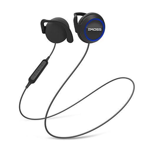 Koss BT221i Wireless Bluetooth Ear Clips, in-Line Microphone, Volume Control and Touch Remote, Sweat Resistant, Black