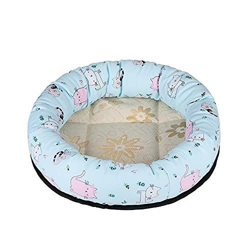 SHENGYAO Haustier-Kissen-Matte Komfortables Katzen-Hundebett Plüsch-Donut-Kissen-Matte Hundekiste Verbesserter Schlaf Runder Warmer Kuschel-Zwinger,10-50cm