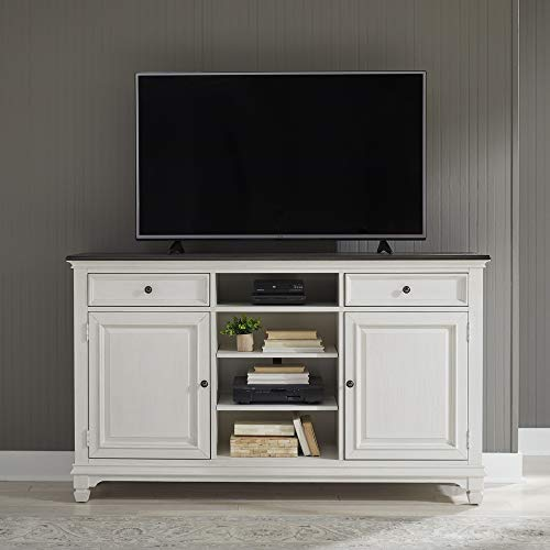 """Liberty Furniture Industries Allyson Park TV Console, 68"""" Highboy, White"""