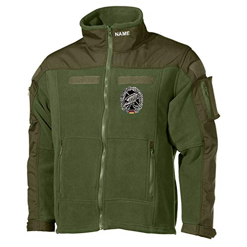 Copytec Combat Fleecejacke Fernspäher Fernspähkompanie Bundeswehr GRATIS Namen#30483, Größe:M, Farbe:Oliv