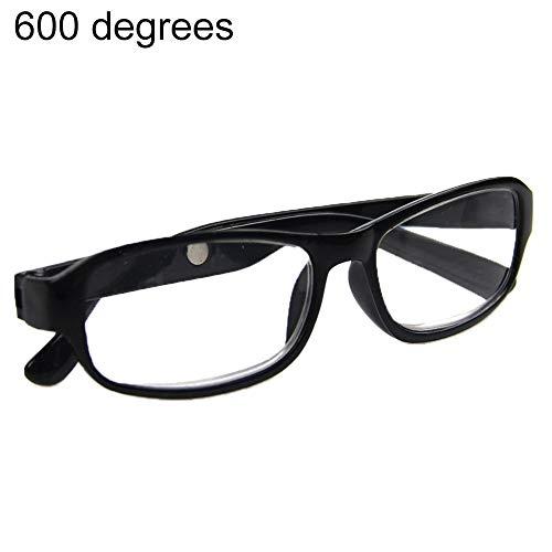 Luo-401XX Lesebrille, Ultraleichte, Klappbare Lesebrille, Hochwertige Modebrille Für Männer Und Frauen +4,5 +5,0 +5,5 +6,0 Schwarz +4,50
