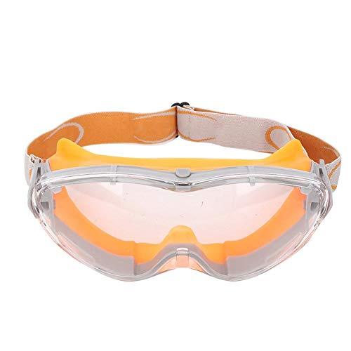 T best Gafas industriales Anti Niebla, PC Antiimpacto Química a Prueba de Viento Gafas de Seguridad Gafas de protección Industrial Resistentes al Desgaste(Orange)