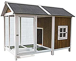 Innovation Pet 270-02 Homes & Quackers Duck House W/Pond, Brown with White Trim