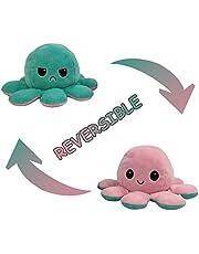 Topways éversible Mignonne en Peluche Jouets, Poupée de Poulpe Flip Double Face, Reversible Octopus Plush Toy Cadeaux de Jouets Créatifs pour Enfants, Famille, Amis