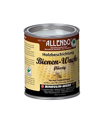 Bindulin, cera d'api liquida da 750 ml, rivestimento biologico per legno, cera d'api per interni, ecologica, diluibile in acqua, adatta per giocattoli, colore: naturale