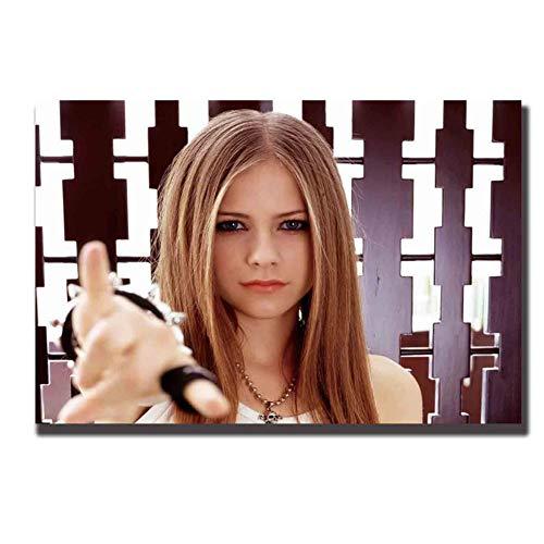 avril lavigne hot singer pintura Decoración Arte Carteles Pared Lienzo cuadros sala de estar Imprimir en lienzo Decoración en casa -60x90cm Sin marco