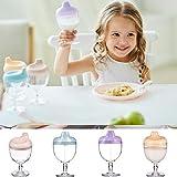 Tazza di plastica per bambini, bicchiere per succo di frutta, bicchiere per bambini, anti-appannamento, per imparare a bere latte, succo di frutta, bevande, acqua