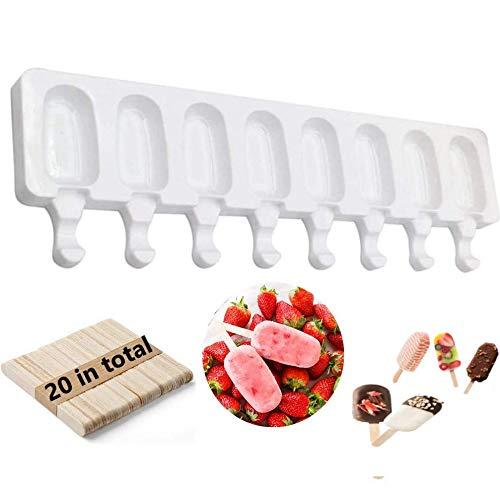 ✔ Si tardan más de 7 días desde el pago en recibir el producto, puede solicitar un reembolso completo y quedarse con el producto. 🍦 【Molde para helado La mejor opción】 : los moldes para paletas de hielo kaishuai contienen :1 moldes para paletas + 20 ...