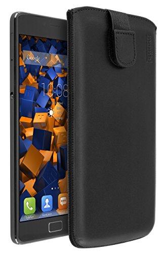 mumbi Echt Ledertasche kompatibel mit Lenovo P2 Hülle Leder Tasche Case Wallet, schwarz