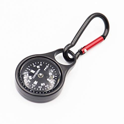 DETUCK Compass Keychain Portable Metal Survival Compass for Hiking Camping Outdoors