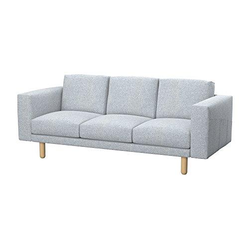Soferia - IKEA NORSBORG Funda para sofá de 3 plazas, Naturel Light Grey