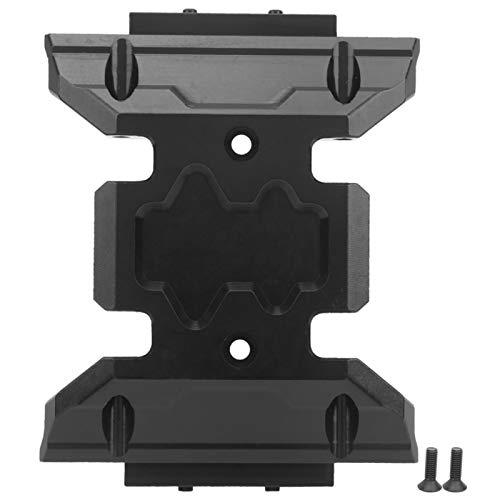 mit 2 Schrauben Exquisite Verarbeitung Rc Zubehör Getriebe Unterfahrschutzplatte zur Reduzierung der Belastung Ihres Rc Modellautos für Axial Scx10 Iii Axi03007(black)