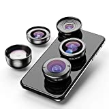 Apexel Professional Mobile Photography Lens Kit for iPhone Pixel Samsung Galaxy and Oneplus Camera Phones - Capturing Lanscape, Architectural, Portrait, Close-up Macro and Fisheye Effects