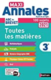 Maxi Annales Brevet 3e 2021 - Corrigé