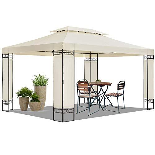 ArtLife Gartenzelt Capri 3 x 4 m in beige – Outdoor Pavillon wasserabweisend – für Garten-Feste und Feiern – aus stabilem Metall und Polyester