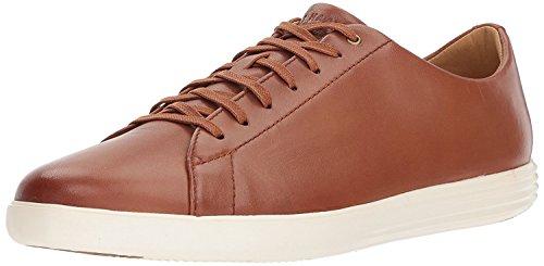 Cole Haan Men's Grand Crosscourt II Sneaker, tan Leather Burnished, 11 Medium US
