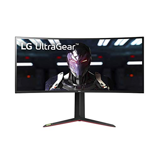 LG 34GP83A-B 34 Inch 21: 9 Ultragear Curved QHD (3440 x 1440) 1ms Nano IPS Gaming Monitor with 144Hz and G-SYNC Compatibility - Black (34GP83A-B)