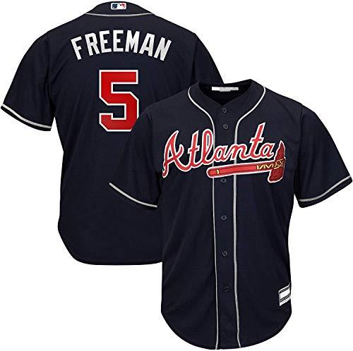 Freddie Freeman Atlanta Braves MLB Boys Kids 4-7 Player Jersey (Navy Alternate, Kids 7)