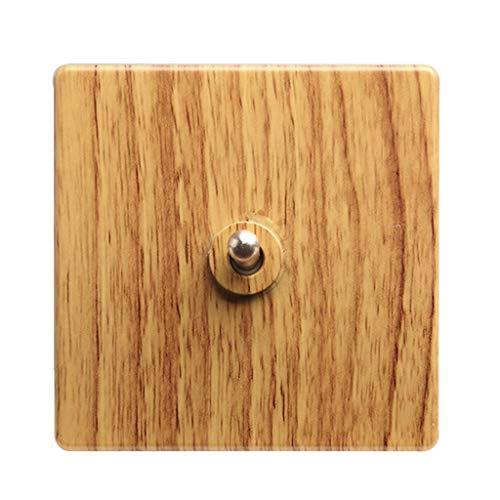 FSJKZX Panel De Enchufes del Interruptor Enchufe del Interruptor De Pared Chino Amarillo del Hogar Casa De Familia Hotel Control Doble Interruptor De Palanca De 4 Vías Interruptor