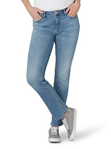 Lee Women's Regular Fit Straight Leg Jean, Anchor, 12