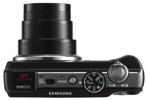 Samsung WB650 Digitalkamera (12 Megapixel, 15-Fach Opt. Zoom, 7,62 cm AMOLED, GPS Tagging, Bildstabilisierung, Weitwinkel) schwarz