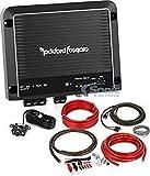Rockford Fosgate R500X1D Amplifier + Wiring Kit Bundle R500X1D 500W RMS Prime Series Class D Monoblock Amplifier + BAK42 Complete CCA 4 Gauge Amplifier Wiring Kit with 2-Channel RCA Interconnects