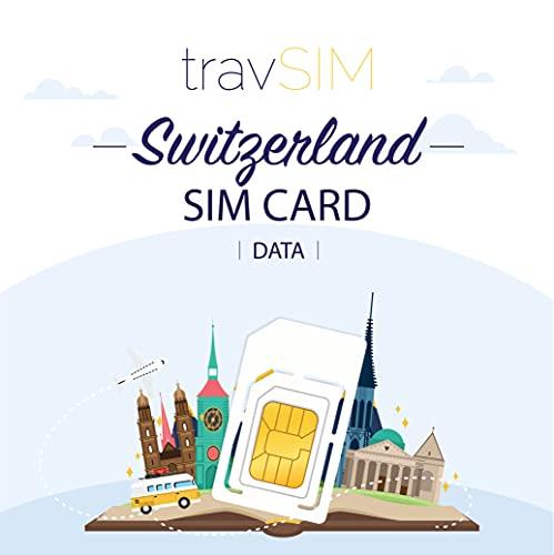 travSIM - Carta SIM Prepagata Svizzera (SIM Dati per l svizzera) - 4GB di Dati Mobili da utilizzare in svizzera Valido per 30 Giorni - la Carta SIM Dati Svizzera Funziona in oltre 65 Paesi Svizzera
