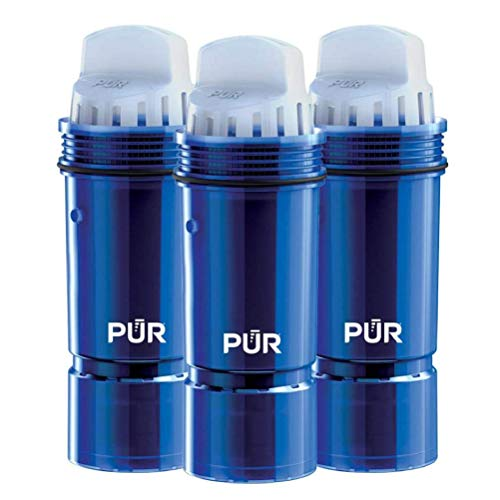 PUR Water Pitcher Replacement Filter with Lead Reduction, 3 Pack, Blue Packaging May Vary