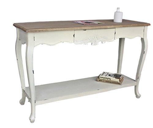 elbmöbel Konsolentisch Sekretär weiß braun antik Landhaus Holz Tisch Anrichte Shabby chic