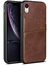 Funda de PU para iPhone Xr (6.1 pulgadas), color marrón