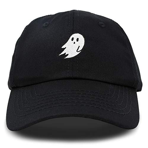DALIX Ghost Embroidery Dad Hat Baseball Cap Cute Halloween in Black