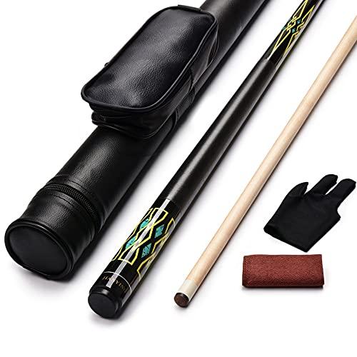 JianYing PC19 2-Piece 58 Inches Pool Cue/Pool Stick 18/19/20/21oz Ergonomic Design Hardwood Canadian Maple Billiard Cue Sticks with Cue Case (20)